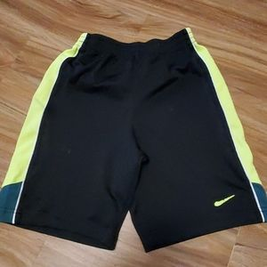 Nike black/neon yellow boys shorts.